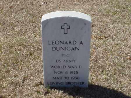 DUNIGAN (VETERAN WWII), LEONARD A - Pulaski County, Arkansas | LEONARD A DUNIGAN (VETERAN WWII) - Arkansas Gravestone Photos