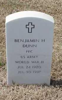 DUNN (VETERAN WWII), BENJAMIN H - Pulaski County, Arkansas | BENJAMIN H DUNN (VETERAN WWII) - Arkansas Gravestone Photos