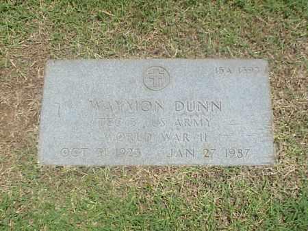 DUNN (VETERAN WWII), WAYMON - Pulaski County, Arkansas | WAYMON DUNN (VETERAN WWII) - Arkansas Gravestone Photos