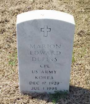 DUPINS (VETERAN KOR), MARION EDWARD - Pulaski County, Arkansas | MARION EDWARD DUPINS (VETERAN KOR) - Arkansas Gravestone Photos