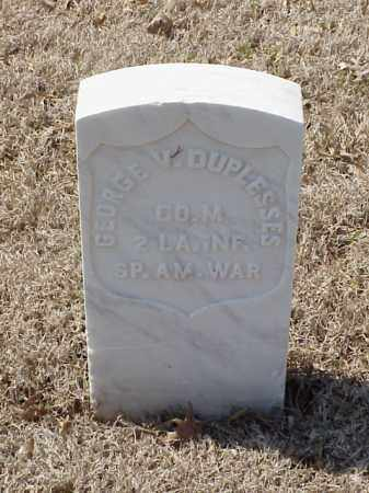 DUPLESSES (VETERAN SAW), GEORGE V - Pulaski County, Arkansas | GEORGE V DUPLESSES (VETERAN SAW) - Arkansas Gravestone Photos