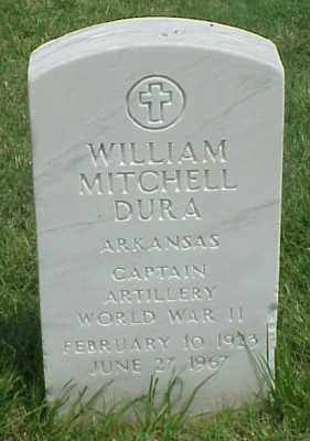 DURA (VETERAN WWII), WILLIAM MITCHELL - Pulaski County, Arkansas | WILLIAM MITCHELL DURA (VETERAN WWII) - Arkansas Gravestone Photos