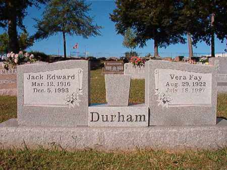 DURHAM, JACK EDWARD - Pulaski County, Arkansas | JACK EDWARD DURHAM - Arkansas Gravestone Photos