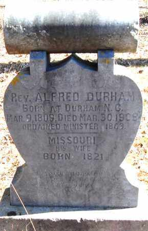DURHAM REV, ALFRED - Pulaski County, Arkansas | ALFRED DURHAM REV - Arkansas Gravestone Photos