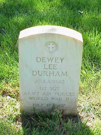 DURHAM (VETERAN WWII), DEWEY LEE - Pulaski County, Arkansas | DEWEY LEE DURHAM (VETERAN WWII) - Arkansas Gravestone Photos