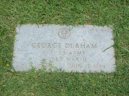 DURHAM (VETERAN WWII), GEORGE - Pulaski County, Arkansas | GEORGE DURHAM (VETERAN WWII) - Arkansas Gravestone Photos