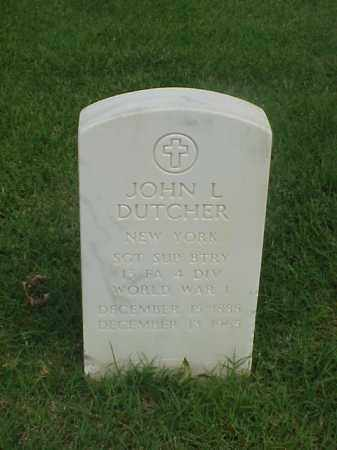 DUTCHER (VETERAN WWI), JOHN L - Pulaski County, Arkansas | JOHN L DUTCHER (VETERAN WWI) - Arkansas Gravestone Photos