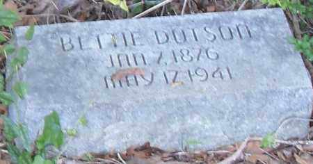 DUTSON, BETTIE - Pulaski County, Arkansas | BETTIE DUTSON - Arkansas Gravestone Photos