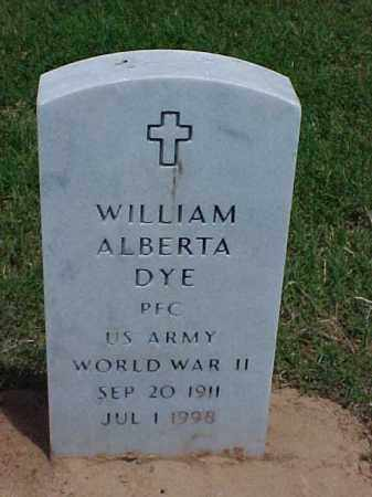 DYE (VETERAN WWII), WILLIAM ALBERTA - Pulaski County, Arkansas | WILLIAM ALBERTA DYE (VETERAN WWII) - Arkansas Gravestone Photos
