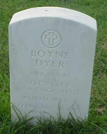 DYER (VETERAN WWII), BOYNE - Pulaski County, Arkansas | BOYNE DYER (VETERAN WWII) - Arkansas Gravestone Photos