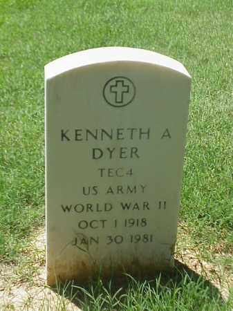 DYER (VETERAN WWII), KENNETH A - Pulaski County, Arkansas | KENNETH A DYER (VETERAN WWII) - Arkansas Gravestone Photos