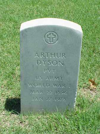 DYSON (VETERAN WWI), ARTHUR - Pulaski County, Arkansas | ARTHUR DYSON (VETERAN WWI) - Arkansas Gravestone Photos