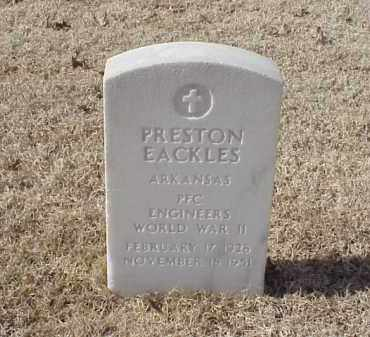 EACKLES (VETERAN WWII), PRESTON - Pulaski County, Arkansas | PRESTON EACKLES (VETERAN WWII) - Arkansas Gravestone Photos