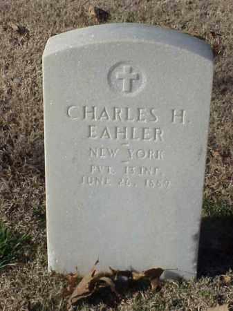 EAHLER (VETERAN), CHARLES H - Pulaski County, Arkansas | CHARLES H EAHLER (VETERAN) - Arkansas Gravestone Photos