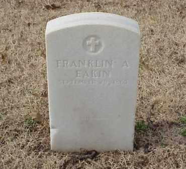 EAKIN (VETERAN UNION), FRANKLIN A - Pulaski County, Arkansas | FRANKLIN A EAKIN (VETERAN UNION) - Arkansas Gravestone Photos