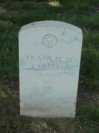 EAKMAN (VETERAN WWI), FRANCIS M - Pulaski County, Arkansas | FRANCIS M EAKMAN (VETERAN WWI) - Arkansas Gravestone Photos