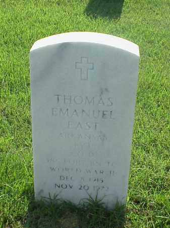EAST (VETERAN WWII), THOMAS EMANUEL - Pulaski County, Arkansas | THOMAS EMANUEL EAST (VETERAN WWII) - Arkansas Gravestone Photos