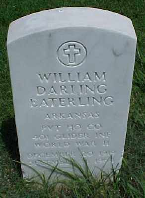 EATERLING (VETERAN WWII), WILLIAM DARLING - Pulaski County, Arkansas | WILLIAM DARLING EATERLING (VETERAN WWII) - Arkansas Gravestone Photos