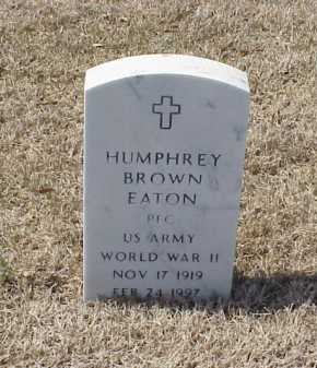 EATON (VETERAN WWII), HUMPHREY BROWN - Pulaski County, Arkansas | HUMPHREY BROWN EATON (VETERAN WWII) - Arkansas Gravestone Photos