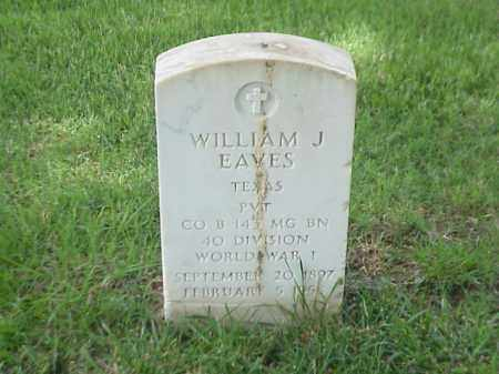 EAVES (VETERAN WWI), WILLIAM J - Pulaski County, Arkansas | WILLIAM J EAVES (VETERAN WWI) - Arkansas Gravestone Photos
