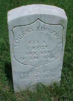 EDDLEMAN (VETERAN SAW), SANDERS - Pulaski County, Arkansas | SANDERS EDDLEMAN (VETERAN SAW) - Arkansas Gravestone Photos