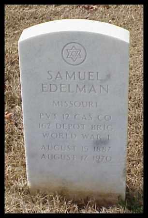 EDELMAN (VETERAN WWI), SAMUEL - Pulaski County, Arkansas | SAMUEL EDELMAN (VETERAN WWI) - Arkansas Gravestone Photos
