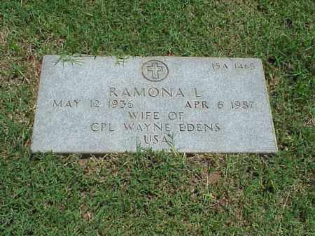 EDENS, RAMONA L - Pulaski County, Arkansas | RAMONA L EDENS - Arkansas Gravestone Photos