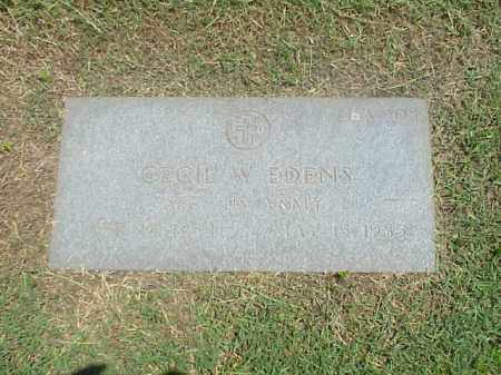 EDENS (VETERAN), CECIL W - Pulaski County, Arkansas | CECIL W EDENS (VETERAN) - Arkansas Gravestone Photos