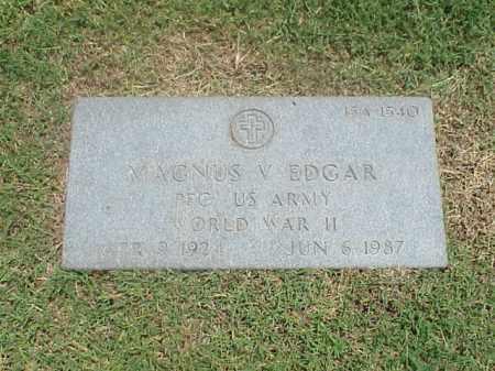 EDGAR (VETERAN WWII), MAGNUS V - Pulaski County, Arkansas | MAGNUS V EDGAR (VETERAN WWII) - Arkansas Gravestone Photos