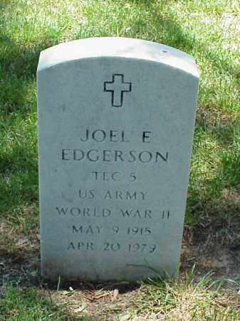 EDGERSON (VETERAN WWII), JOEL E - Pulaski County, Arkansas | JOEL E EDGERSON (VETERAN WWII) - Arkansas Gravestone Photos