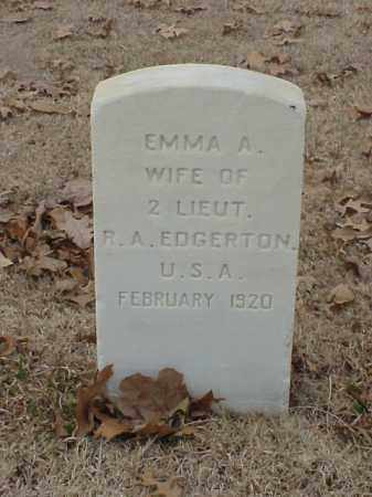 EDGERTON, EMMA A - Pulaski County, Arkansas | EMMA A EDGERTON - Arkansas Gravestone Photos