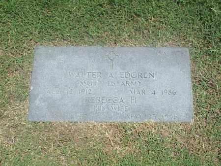 EDGREN (VETERAN WWII), WALTER A - Pulaski County, Arkansas | WALTER A EDGREN (VETERAN WWII) - Arkansas Gravestone Photos
