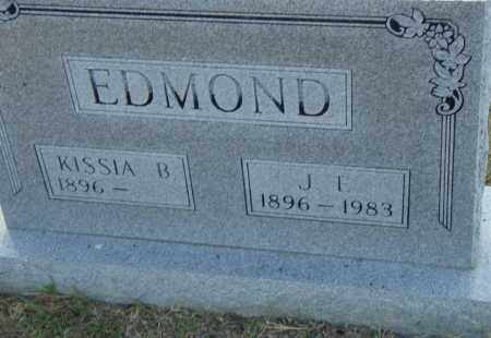 EDMOND, J. E. - Pulaski County, Arkansas | J. E. EDMOND - Arkansas Gravestone Photos