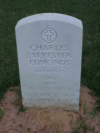 EDMONDS (VETERAN WWII), CHARLES SYLVESTER - Pulaski County, Arkansas | CHARLES SYLVESTER EDMONDS (VETERAN WWII) - Arkansas Gravestone Photos