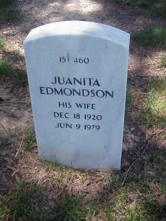 EDMONDSON, JUANITA - Pulaski County, Arkansas | JUANITA EDMONDSON - Arkansas Gravestone Photos