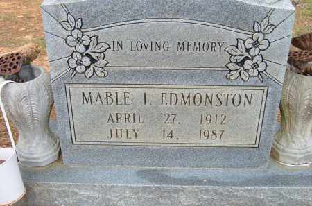 EDMONSTON, MABLE I. - Pulaski County, Arkansas | MABLE I. EDMONSTON - Arkansas Gravestone Photos