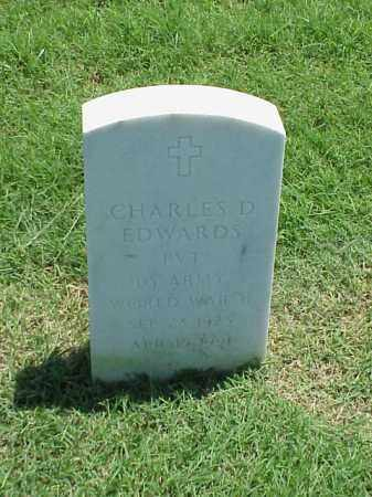 EDWARDS (VETERAN WWII), CHARLES D - Pulaski County, Arkansas | CHARLES D EDWARDS (VETERAN WWII) - Arkansas Gravestone Photos