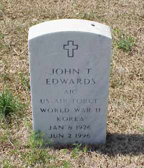 EDWARDS (VETERAN 2 WARS), JOHN T - Pulaski County, Arkansas | JOHN T EDWARDS (VETERAN 2 WARS) - Arkansas Gravestone Photos