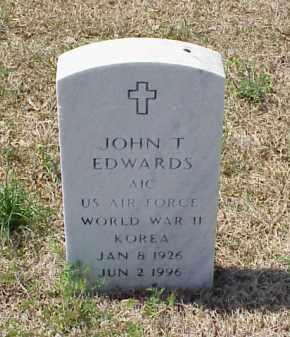 EDWARDS (VETERAN 2 WARS), JOHN T - Pulaski County, Arkansas | JOHN T EDWARDS (VETERAN 2 WARS) - Arkansas Gravestone Photos