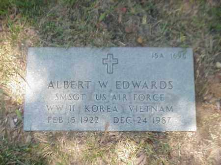 EDWARDS (VETERAN 3 WARS), ALBERT W - Pulaski County, Arkansas | ALBERT W EDWARDS (VETERAN 3 WARS) - Arkansas Gravestone Photos