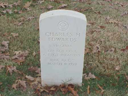 EDWARDS (VETERAN), CHARLES H - Pulaski County, Arkansas | CHARLES H EDWARDS (VETERAN) - Arkansas Gravestone Photos