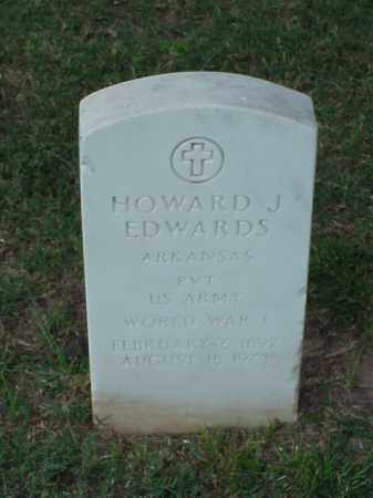EDWARDS (VETERAN WWI), HOWARD J - Pulaski County, Arkansas | HOWARD J EDWARDS (VETERAN WWI) - Arkansas Gravestone Photos