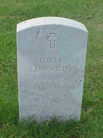 EDWARDS (VETERAN WWI), IDELL - Pulaski County, Arkansas | IDELL EDWARDS (VETERAN WWI) - Arkansas Gravestone Photos