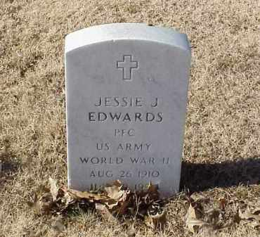 EDWARDS (VETERAN WWII), JESSIE J - Pulaski County, Arkansas | JESSIE J EDWARDS (VETERAN WWII) - Arkansas Gravestone Photos