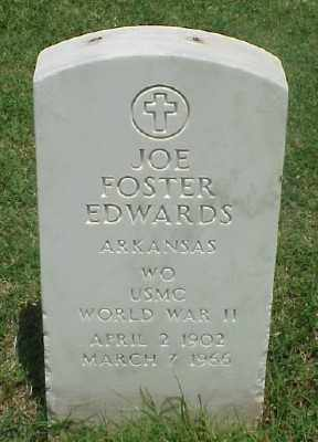 EDWARDS (VETERAN WWII), JOE FOSTER - Pulaski County, Arkansas | JOE FOSTER EDWARDS (VETERAN WWII) - Arkansas Gravestone Photos