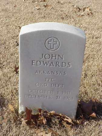 EDWARDS (VETERAN WWII), JOHN - Pulaski County, Arkansas | JOHN EDWARDS (VETERAN WWII) - Arkansas Gravestone Photos