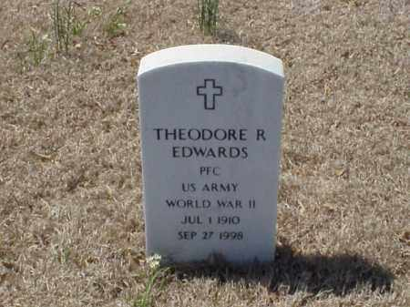 EDWARDS (VETERAN WWII), THEODORE R - Pulaski County, Arkansas | THEODORE R EDWARDS (VETERAN WWII) - Arkansas Gravestone Photos