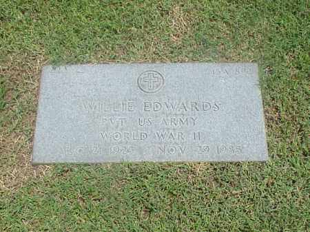 EDWARDS (VETERAN WWII), WILLIE - Pulaski County, Arkansas | WILLIE EDWARDS (VETERAN WWII) - Arkansas Gravestone Photos