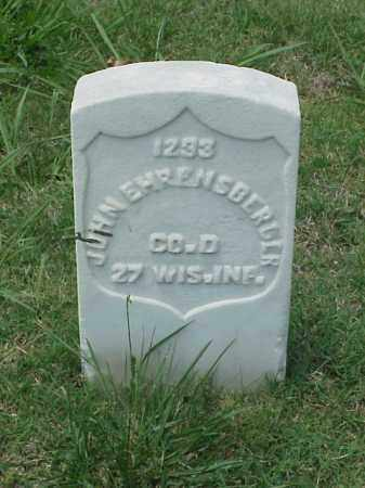 EHRENSBERGER (VETERAN UNION), JOHN - Pulaski County, Arkansas | JOHN EHRENSBERGER (VETERAN UNION) - Arkansas Gravestone Photos