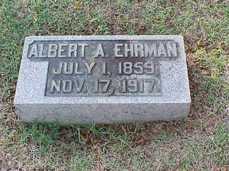 EHRMAN, ALBERT A - Pulaski County, Arkansas | ALBERT A EHRMAN - Arkansas Gravestone Photos